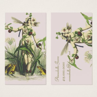 Professional Business Lady And The Pond Creatures Business Card