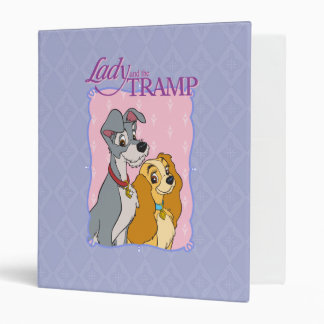 Lady and the Tramp 3 Ring Binder