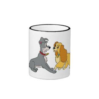 Lady and The Tramp Meet Disney Ringer Mug
