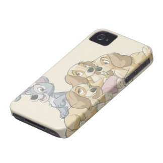 Lady and the Tramp Puppies iPhone 4 Cover