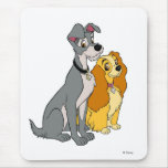 Lady and the Tramp Stand Together Disney Mouse Pad