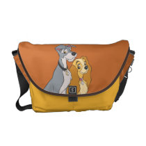 Lady and the Tramp Stand Together Messenger Bags at Zazzle