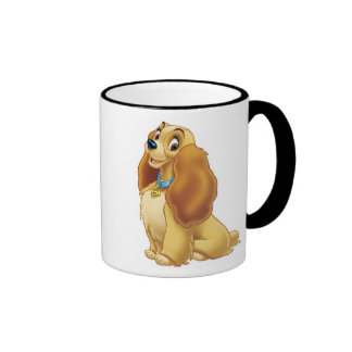 Lady and The Tramp's Lady smiling Disney Ringer Coffee Mug