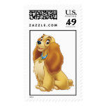 Lady and The Tramp's Lady smiling Disney Stamp
