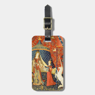 Lady and the Unicorn Medieval Tapestry Art Bag Tag