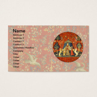 Lady and the Unicorn Medieval Tapestry Art Business Card