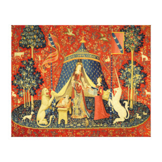 Lady and the Unicorn Medieval Tapestry Art Gallery Wrapped Canvas
