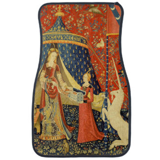 Lady and the Unicorn Medieval Tapestry Art Car Floor Mat