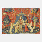 Lady and the Unicorn Medieval Tapestry Art Kitchen Towel