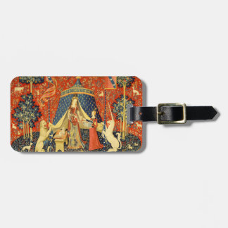 Lady and the Unicorn Medieval Tapestry Art Luggage Tag