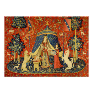 Lady and the Unicorn Medieval Tapestry Art Poster