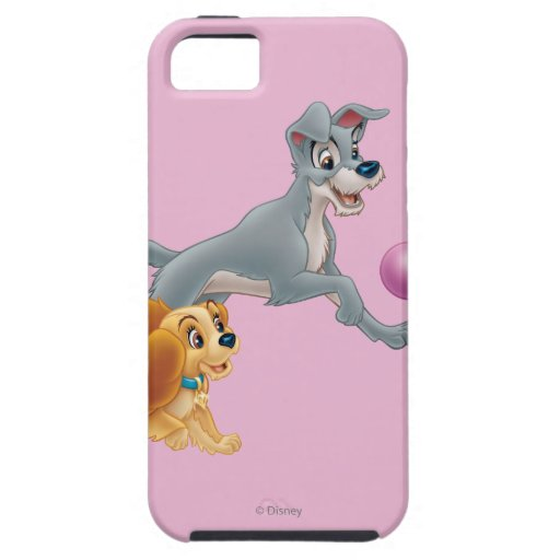 Lady and Tramp Chasing a Ball iPhone 5 Covers