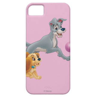 Lady and Tramp Chasing a Ball iPhone 5 Cover