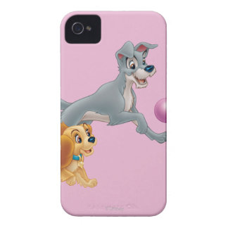 Lady and Tramp Chasing a Ball iPhone 4 Case
