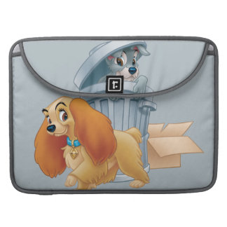 Lady and Tramp in the Trash Sleeve For MacBook Pro