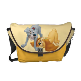 Lady and Tramp Playing Courier Bags