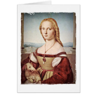 Lady and Unicorn by Raphael Card