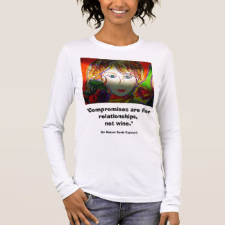 Lady and Wine Long Sleeve T-Shirt