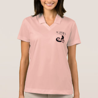 Lady Aquarius Zodiac Sign Polo Shirt