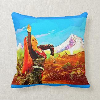 Lady armenia 2 throw pillow