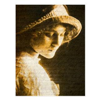 Lady Art Postcard