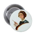 Lady Artist Button