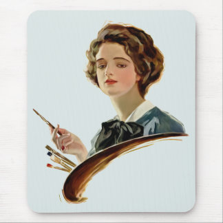 Lady Artist Mouse Pad