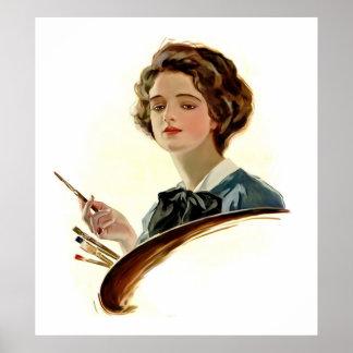 Lady Artist Poster