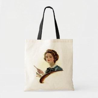 Lady Artist Tote Bag