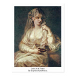Lady As A Vestal By Angelica Kauffmann Post Card