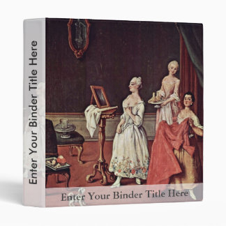 Lady At Her Toilette By Longhi Pietro Vinyl Binder