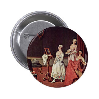 Lady At Her Toilette By Longhi Pietro Pinback Buttons