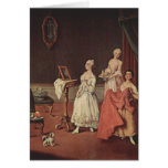 Lady at her Toilette by Pietro Longhi Greeting Card