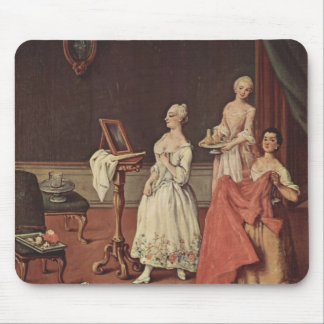 Lady at her Toilette by Pietro Longhi Mouse Pads