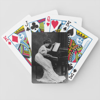 Lady at Piano Vintage Deck Playing Cards Poker Cards
