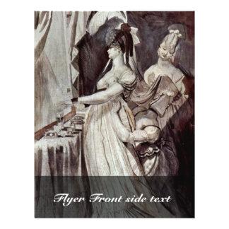 Lady At The Dressing Table By Johann Heinrich Füss Flyer