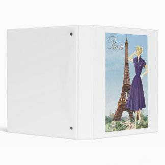 Lady at the Eiffel Tower Binder