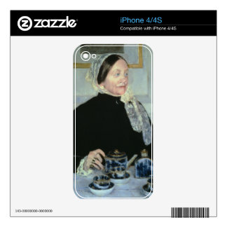 Lady at the Tea Table, 1885 (oil on canvas) Skins For The iPhone 4