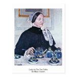 Lady At The Tea Table By Mary Cassatt Postcard