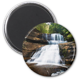 Lady Barron Falls in Mount Field National Park 2 Inch Round Magnet