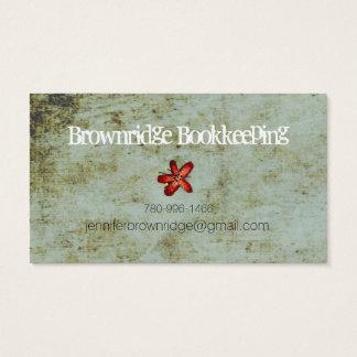 Lady Beautiful Eye Hair Grunge Business Card