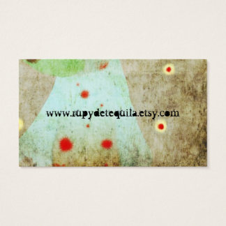 Lady Beautiful Eye Hair Grunge Business Card