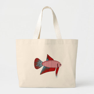 Lady Betta - Veiltail Large Tote Bag