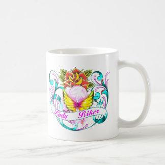 lady biker-1 coffee mug