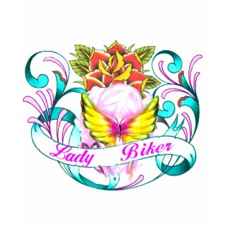 lady biker-1 shirt