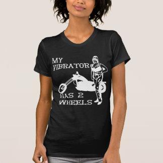 Lady Biker My Vibrator Has 2 Wheels Shirts