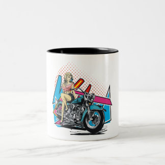 Lady Biker On Mug