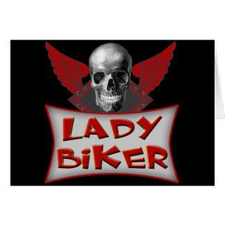 Lady Biker T shirts Gifts Card