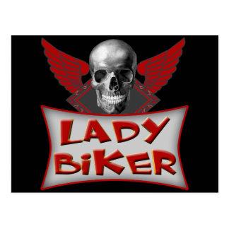 Lady Biker T shirts Gifts Postcard