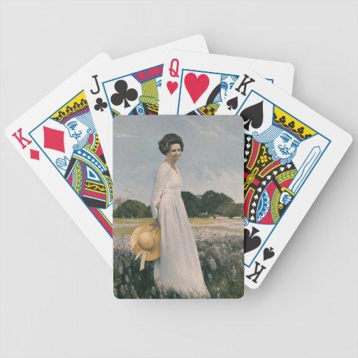 Lady Bird Johnson - Aaron Shikler (1978) Card Deck
